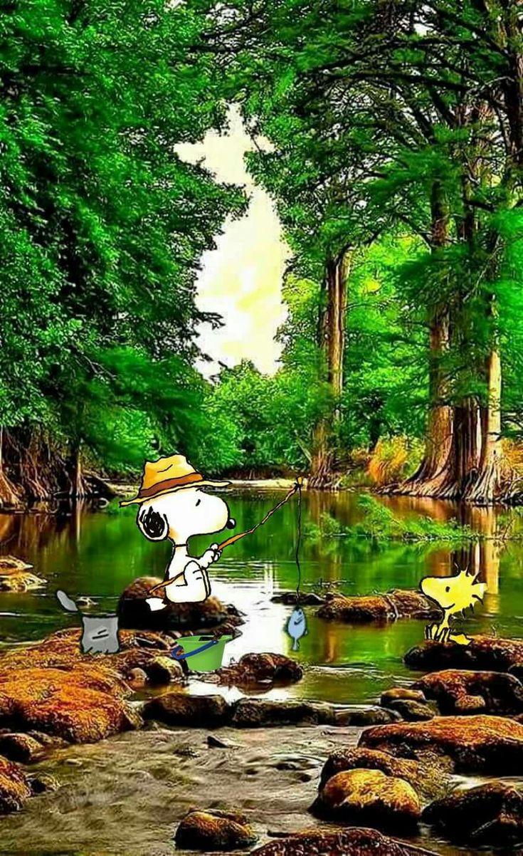 Fishing snoopy