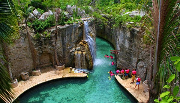 XCARET, CANCUN MEXICO I have been here it's the most beautiful place I have ever seen!