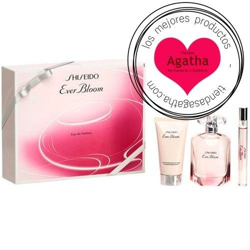 Estuche Shiseido Ever Bloom Edp 50 ml + Regalo Leche Corporal + 10 ml.  Cofre regalo del perfume femenino Shiseido Ever Bloom Eau de Parfum Spray 50 ml