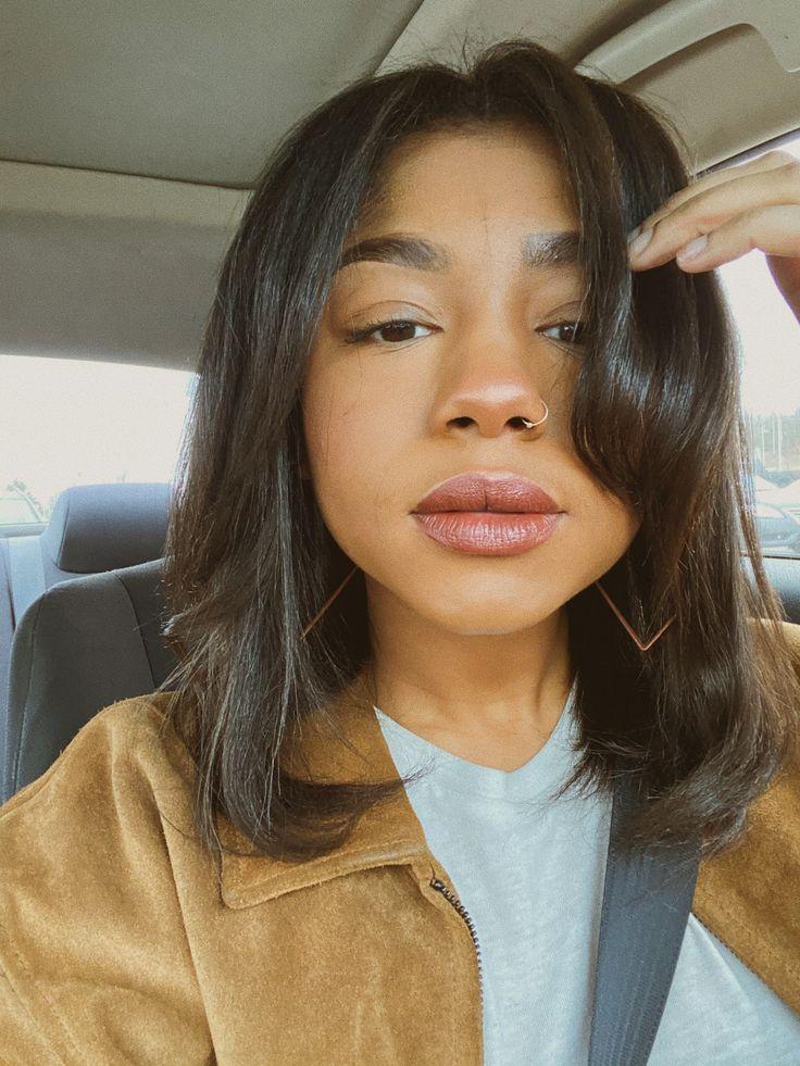 amber ais   Cool hairstyles, Silk press, Hair