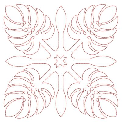 Free Hawaiian Quilt Block Patterns | Hawaiian Quilt Blocks 2 (4x4) | Embroidery Delight | Your source for ...