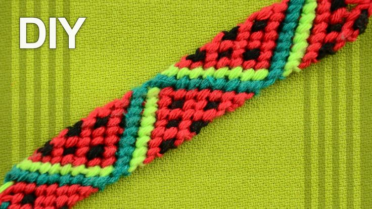 Friendship Bracelet – Watermelon Slices / DIY Tutorial Elisabeth