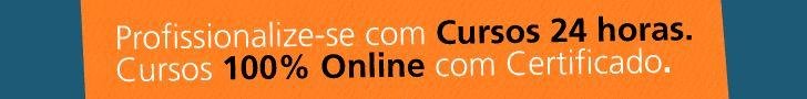 Cursos online, válidos em todo o Brasil e você recebe o certificado em casa!