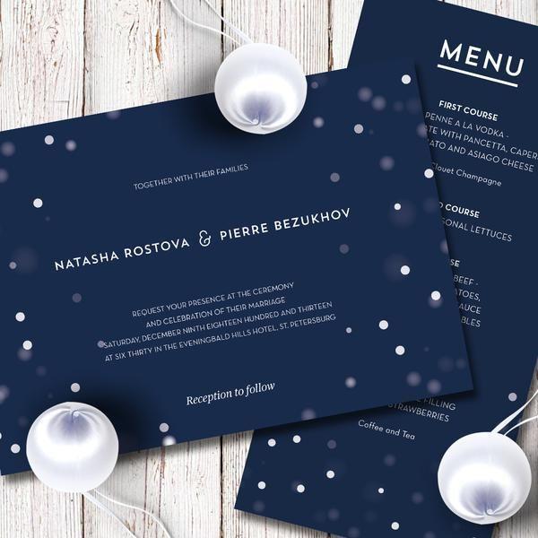 Snow Wedding Invitation