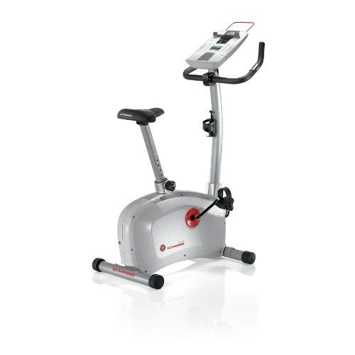 The Schwinn 120 Upright Bike features a comfort padded saddle adjusts to 10 settings allowing a great fit for users of all sizes. The new LCD console monitor displays time, interval time, RPM, watts, distance, pulse, speed, calories, resistance level and course profile. 16 levels of resistance let you customize the intensity of your workout...
