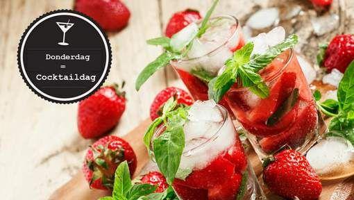 Braziliaanse cocktail met aardbeien, limoen en rum