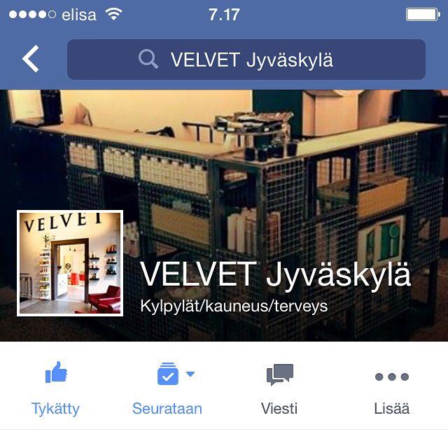 VELVET Jyväskylän FB -sivut ovat auki! Käykäähän tykkäämässä!!