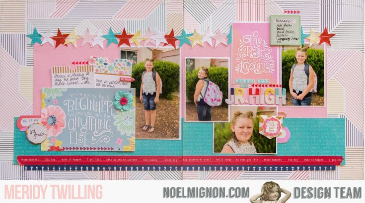 "Hello friends, it's Meridy here today with my first layout using the ""Study Guide"" Daily Diary Kit and paper add-on.  In 1 1/2 weeks my kid..."