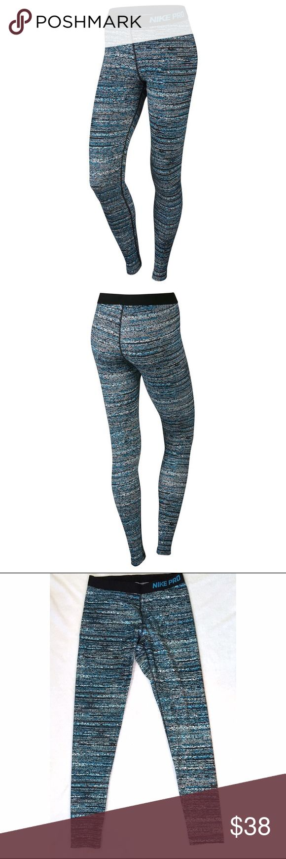 Nike Pro Blue Static Pants The Nike Pro Warm Static Womens Training Tights are made with snug, sweat-wicking fabric thats brushed on the interior for exceptional cold-weather comfort. Nike Pants