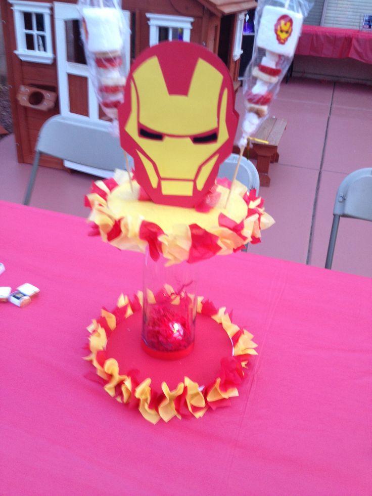 Iron Man Centerpiece Made By Me Pinterest Iron Man