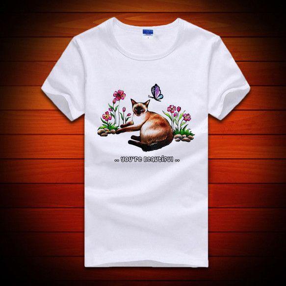 猫部屋@hassiの猫(シャム猫)デザインのレディースtシャツです。大人感のある猫のデザインです。ご注文の際、ご希望のカラ―、サイズをお申し付けください。尚、...|ハンドメイド、手作り、手仕事品の通販・販売・購入ならCreema。