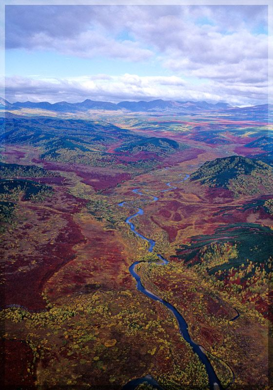 Kamchatka from bird's view, Far East, Russia
