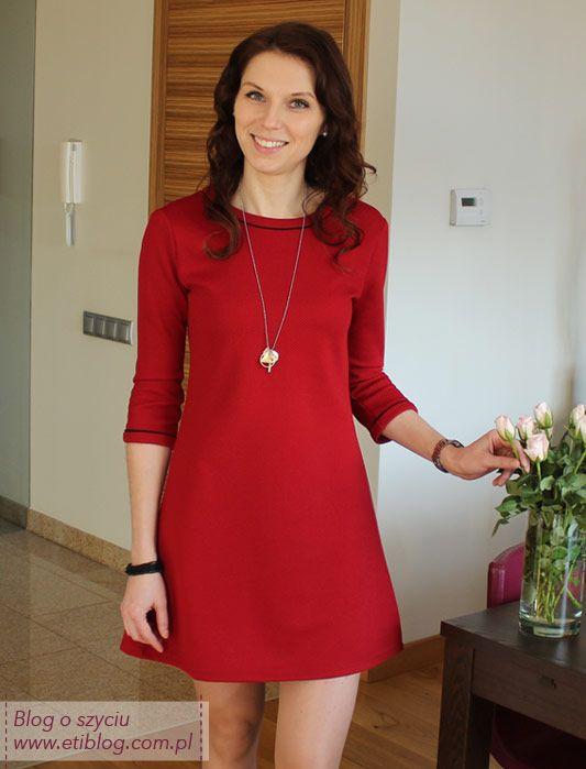 Jak uszyć dzianinową sukienkę - szycie krok po kroku eti blog