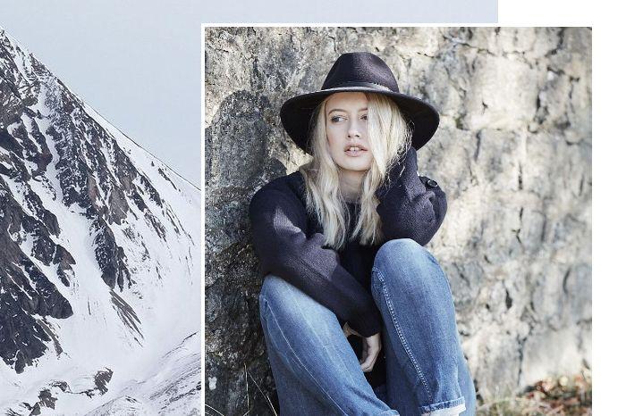 Penmayne of London | Winter's Mood | Midnight Blue Willow Fedora