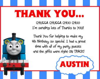 Thomas The Train Thank You Tag By Oupande On Etsy Ezra Ralph