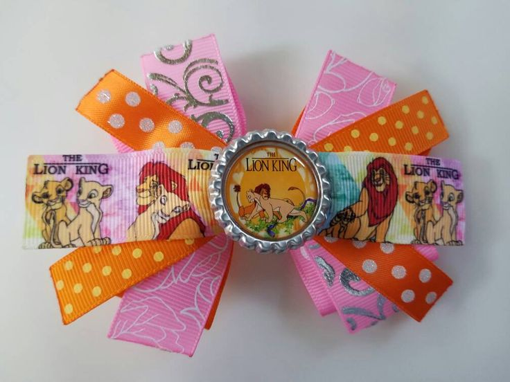 Lion King hair bow by HandGCrafts on Etsy