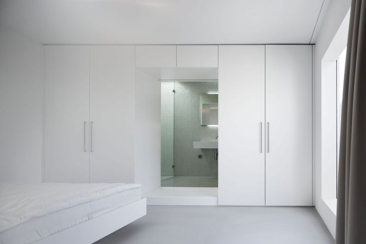 epic bedroom interior design idea finished with whte cupboard design idea applied in haus von arx with mirror
