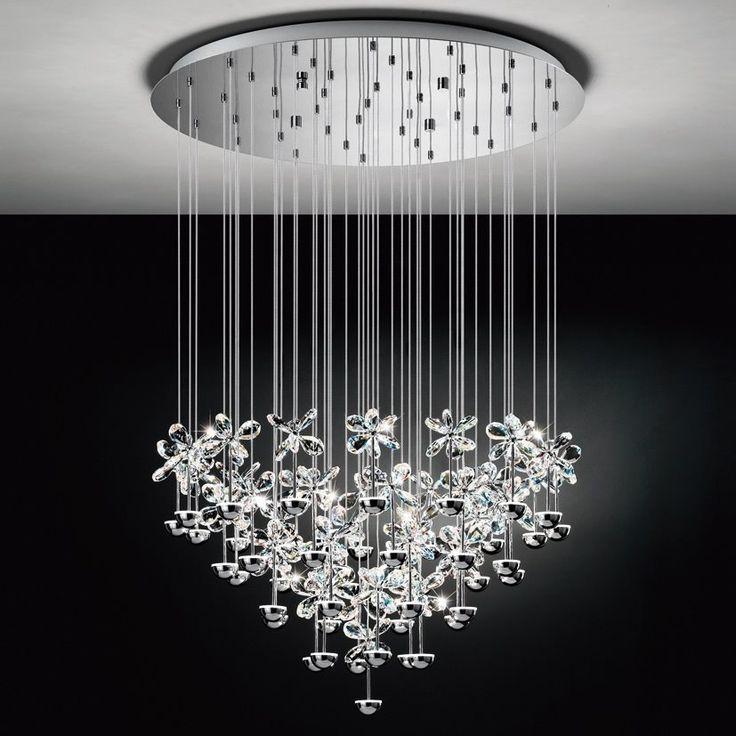 Eglo Lampa Wisząca LED Pianopoli 93661 : Lampy wiszące z kryształami : Sklep internetowy Elektromag