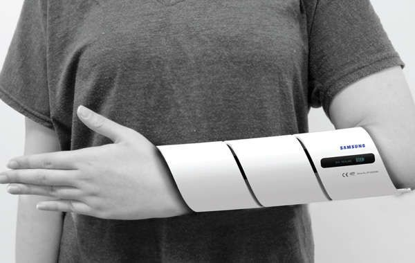 Vibration-Healing Bone Casts  #SamsungU-Cast Device Fits Snugly Like a Blood Pressure Machine designed to heal bones quicker using U-vibrations + Ultrasonography technology.
