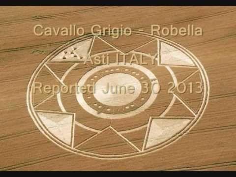 CROP CIRCLE - Cavallo Grigio - Robella - ITALY - June 30 2013