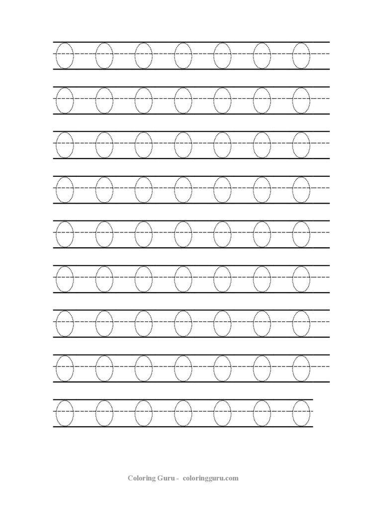 Die besten 17 Bilder zu Number Tracing Worksheets 4 PreSchool auf ...