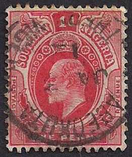 Estampilla Nigeria, 1910 - Rey Eduardo VII