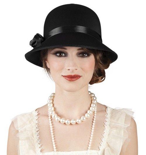 Sombrero charlestón años 20 para mujer. Disponible en www.vegaoo.es