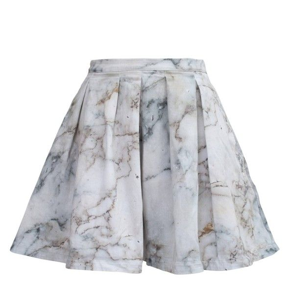 My Pair of Jeans - White Marble Skirt ($175) ❤ liked on Polyvore featuring skirts, high waisted knee length skirt, pocket skirt, high-waist skirt, high waisted skirts and high rise skirts