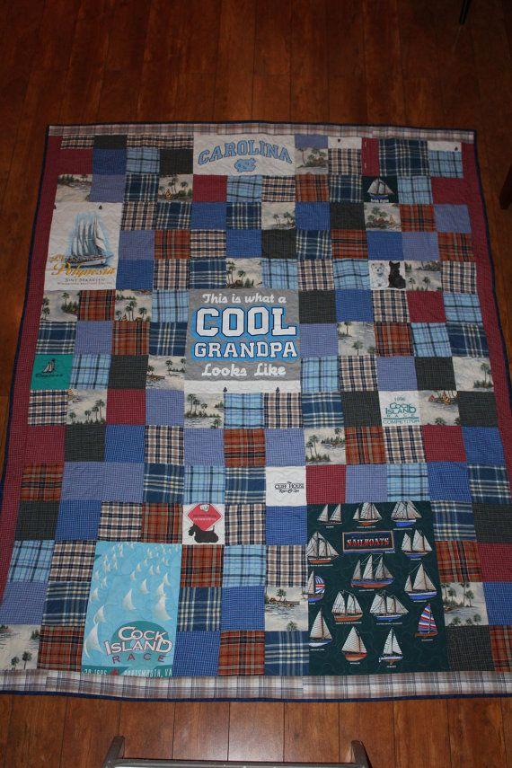 Chemises de mémoire de patchwork de papa T par DollyWollySewing