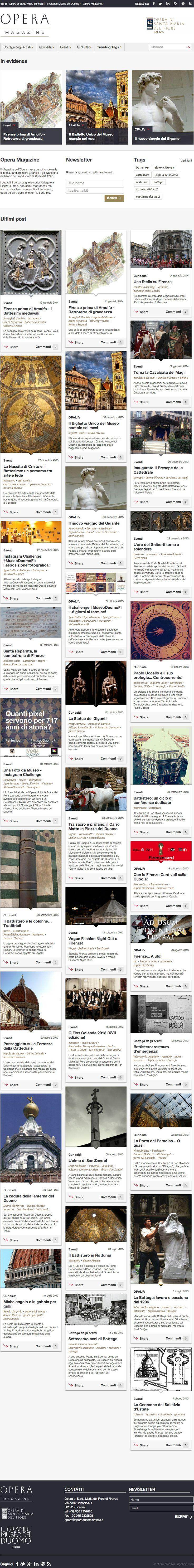 Oggi Opera Magazine compie sette mesi! Avete già letto i suoi trentadue articoli? -  http://operaduomo.firenze.it/blog