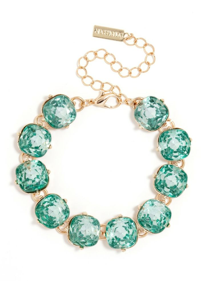 an elegant bracelet with the perfect pop of color