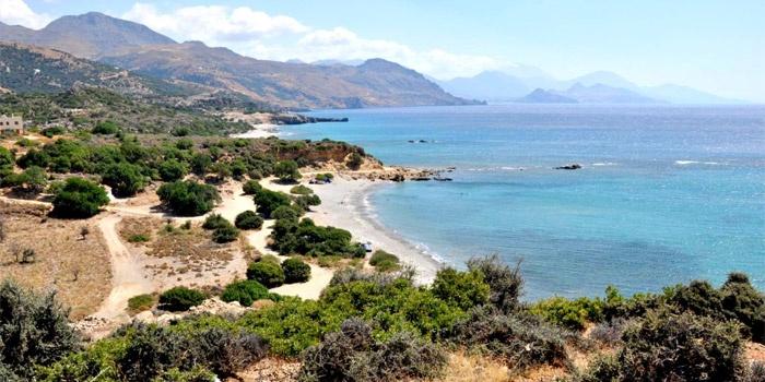 Agia Marina Beach in Rodakino, Rethimno, Crete