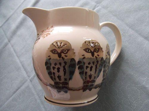 """Emma Bridgewater 2006 Collectors Club """"Owls"""" 1.5 Pint Jug"""