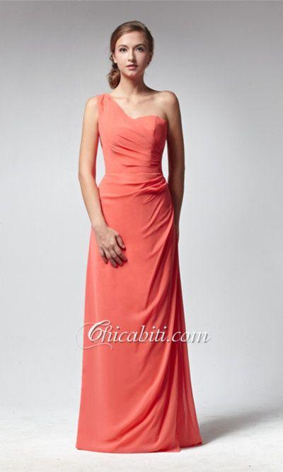 Monospalla Rosso Arancio Vestiti Damigella Zip Classico ACM141