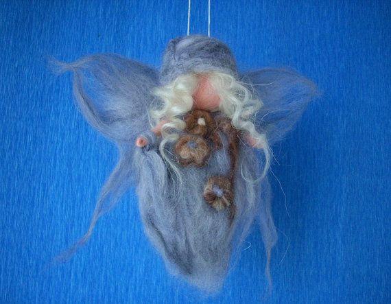 Baby Angel Winter Needle felted di RaduraIncantata su Etsy