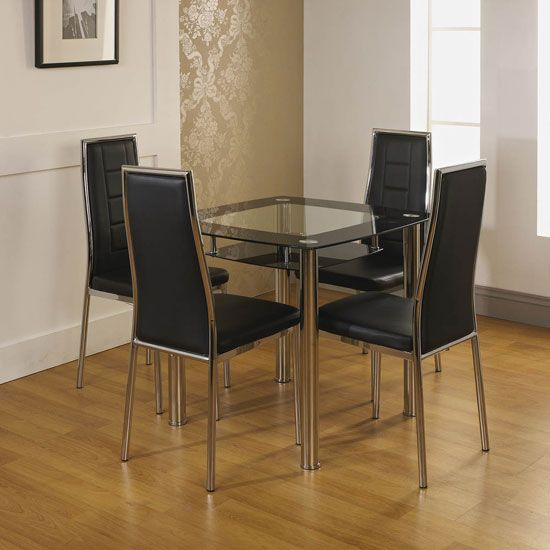 An ideal table size for small families that don t have a lot of space  Dining  Room  198 best Dining Room Furniture images on Pinterest   Dining room  . Glass Table For Dining Room. Home Design Ideas