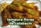 Tempura de flores de calabacín. Recetas veganas de Vegetarianismo.net
