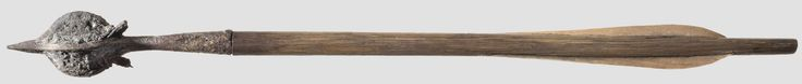 HH sale, see other pin. This is a example of the burg Altbüron crossbow arrow, around 1309. it measures 45cm.