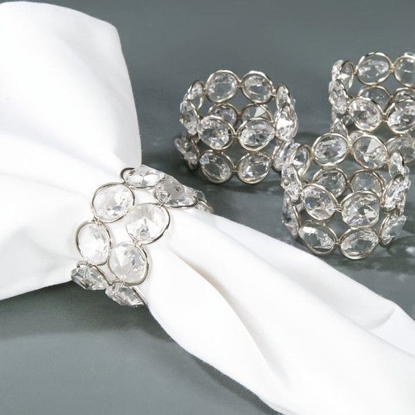 Clear Beaded Set of 6