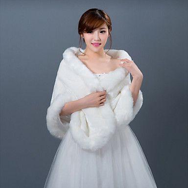 Winter Wedding Robe Coat Bridesmaid Dresses Shawl - GBP £ 13.11