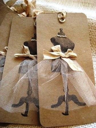 Christmas gift wrapping ideas ToniK ⓦⓡⓐⓟ ⓘⓣ ⓤⓟ DIY crafts dress form  gift tags  etsy.com