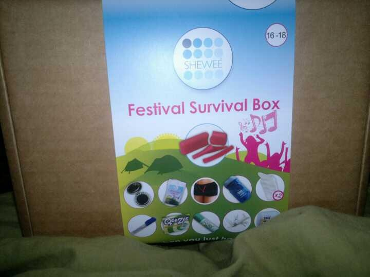 I came across shewee & thought what a dam good idea!..  In the Festival Survival Box you get 1 pink shewee in case, 1 pink extension pipe,compact brush with mirror, sick bags, shewee boxer short's, a wind up torch, 2  absorbent pouch which you pee into with pipe and then they dont spill, hand sanitizer pen, 1 pocket knife...which is quite jazzy n festy useful, 1 waterproof Poncho, 1 set of ear plug's & 1 dry shampoo 50ml Xx