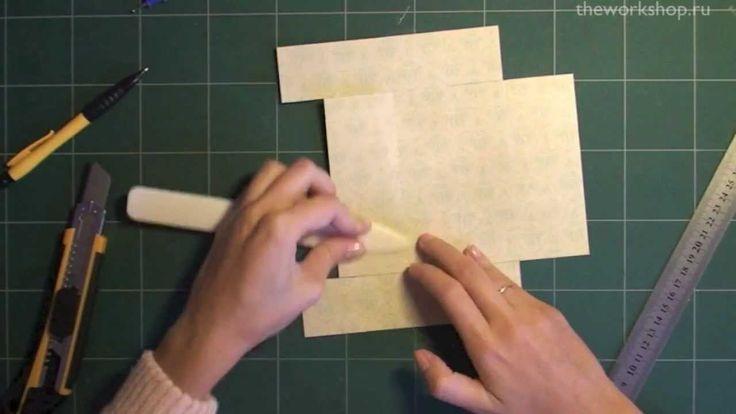 Как сделать открытку коробку видео