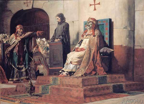 Jean-Paul Laurens - Le Pape Formose et Etienne VI