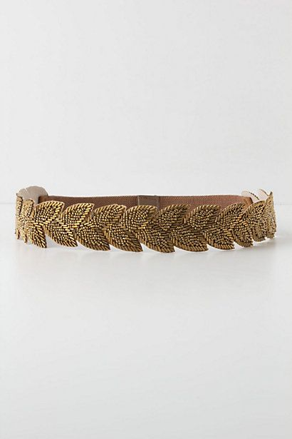Sylvan Beaded Stretch Belt - would make an amazing belt for a wedding dress (if leaves went all the way around)