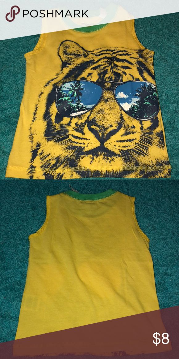 Tiger shirt NWT. Little boys tiger with sunglasses tank top. Super cute for summer, with a pair of shorts. I have 7 of them, all different sizes. I offer bundle discounts Shirts & Tops Tank Tops
