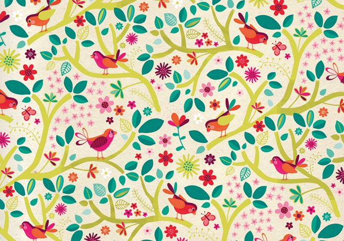 Birds - surface pattern design by Tjarda Borsboom - zwiep.nu