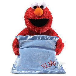 Peek A Boo Elmo Plush: Sesame Street's most lovable character engages little ones in an interactive game of peek-a-boo! Press his foot, and…
