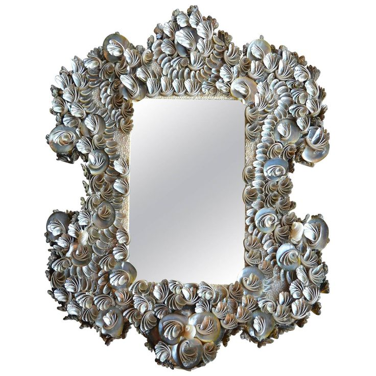 Sea Shell Mirror   See more antique and modern Wall Mirrors at https://www.1stdibs.com/furniture/mirrors/wall-mirrors