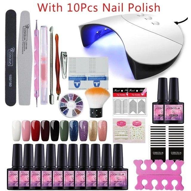 Manicure Dryer Lamp For Acrylic Nails Gel Polish Set Nail Dryer Nail Polish Kits Uv Nails